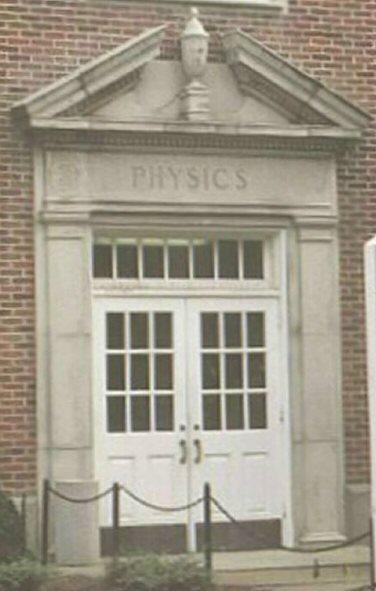 Lewis Hall, front door