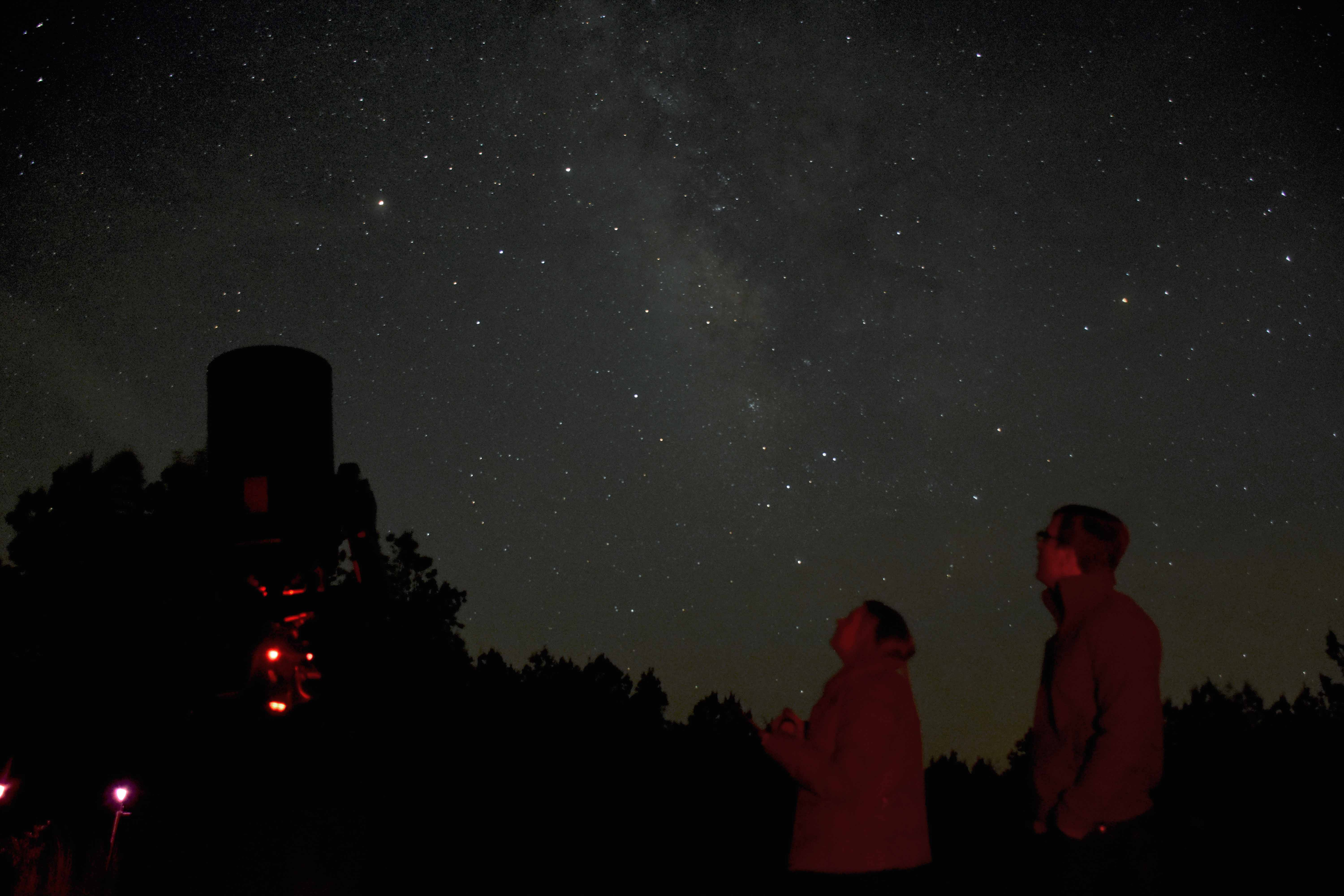 This photo of the Milky Way as seen from our Dark Site was taken by Dr. Perera.